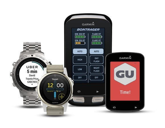 Four Garmin products.