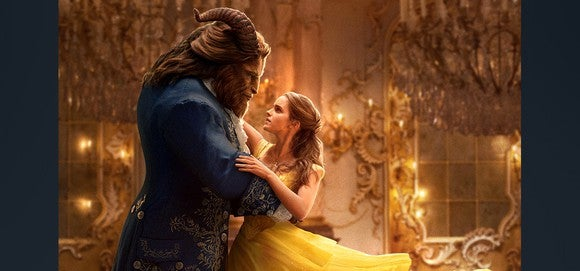 A still shot from the Beauty and the Beast live-action film.