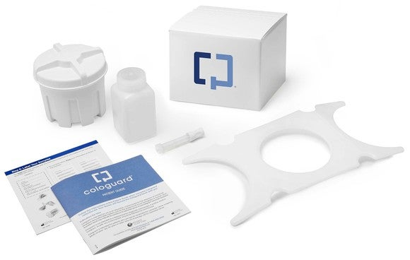 Cologuard test kit from Exact Sciences