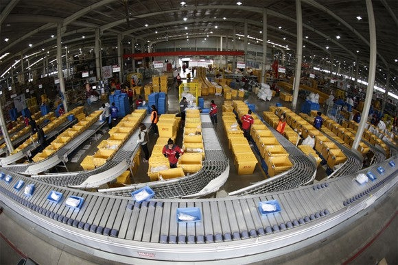 JD's automated warehouse in Shanghai.