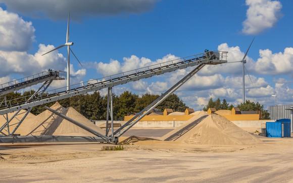 Sand mine conveyor belts