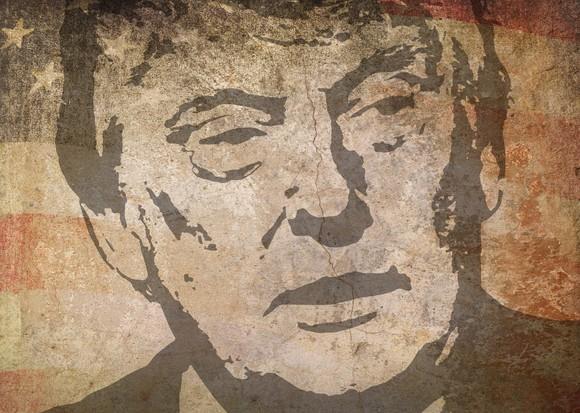 Artist's rendering of President Trump