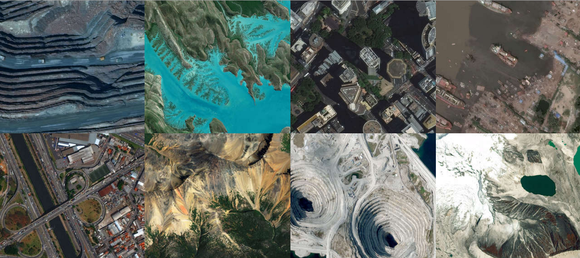 Images collected from DigitalGlobe's various satellites