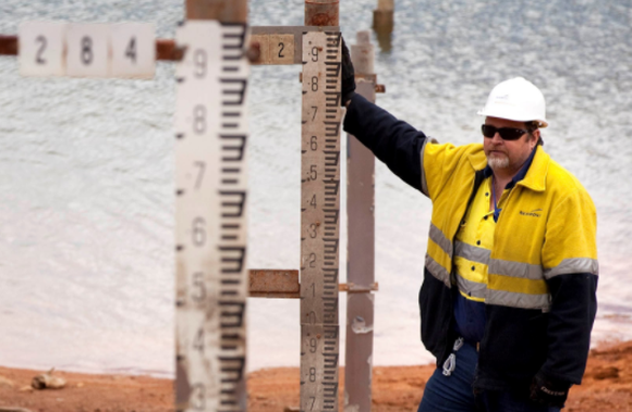 A Newmont Mining employee.