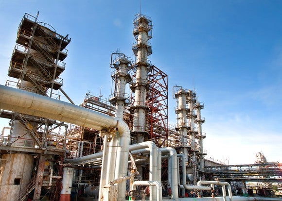 A gas processing plant.