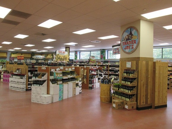 The inside of a Trader Joe's.