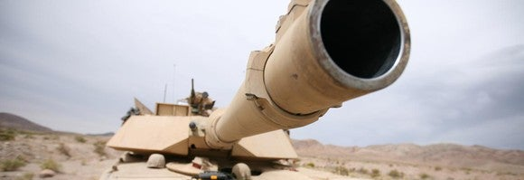 Tank barrel.