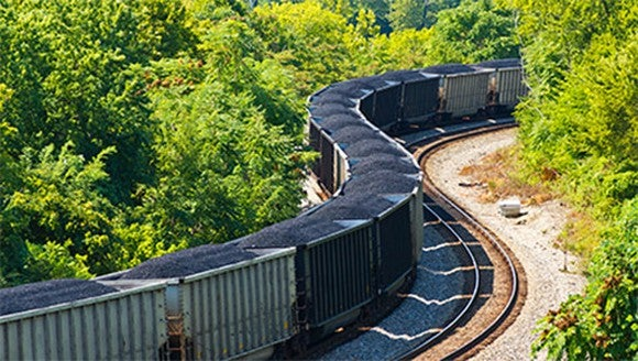 An image of a train loaded with coal.