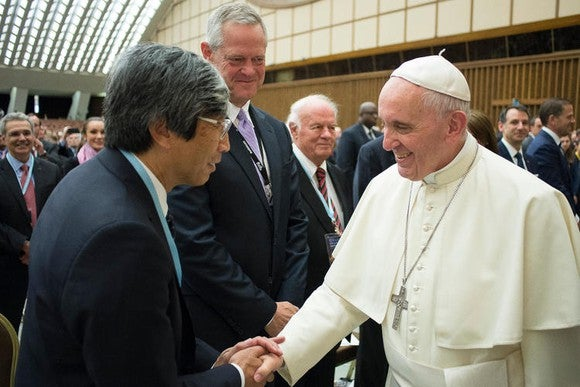 NantHealth chairman and CEO Dr. Patrick Soon-Shiung meets with Pope Francis