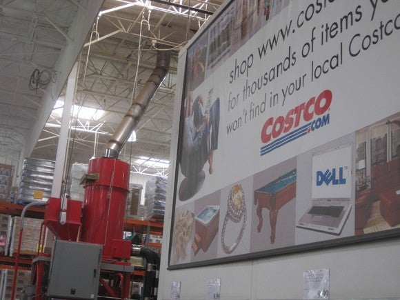The entryway to a Costco store