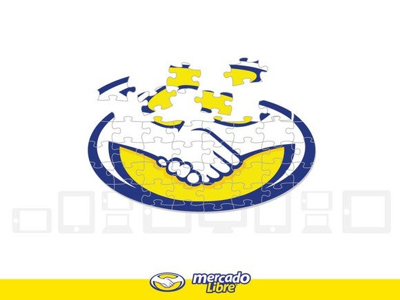 MercadoLibre logo in the form of a puzzle.