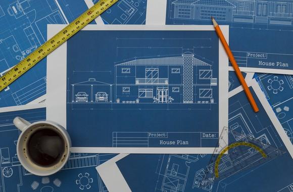 Construction blueprints.