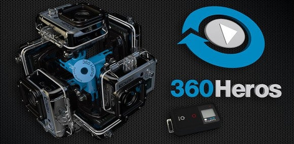 One of 360Heros' multi-camera rigs.