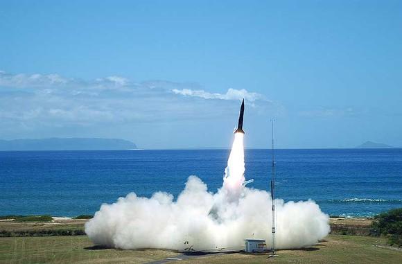 A rocket launch.