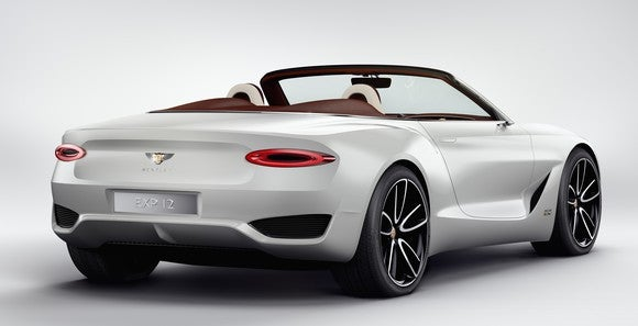 The EXP 12 Speed 6e Concept is shown from the rear.