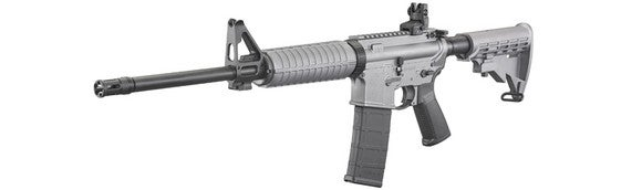 A Ruger AR-556 modern sporting rifle