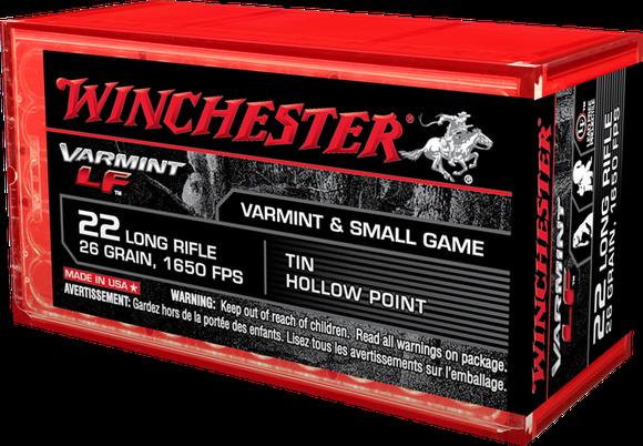 A box of Winchester .22 ammunition