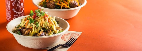 Sample entrees from ShopHouse.