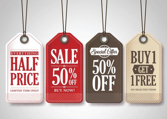 Sale promotion tags