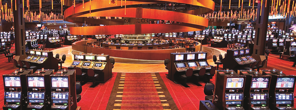 View of the casino floor at the Sands Bethlehem casino