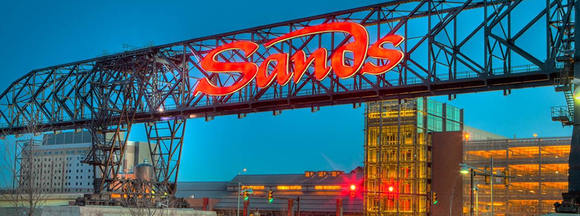 Gateway sign to the Sands Bethlehem casino