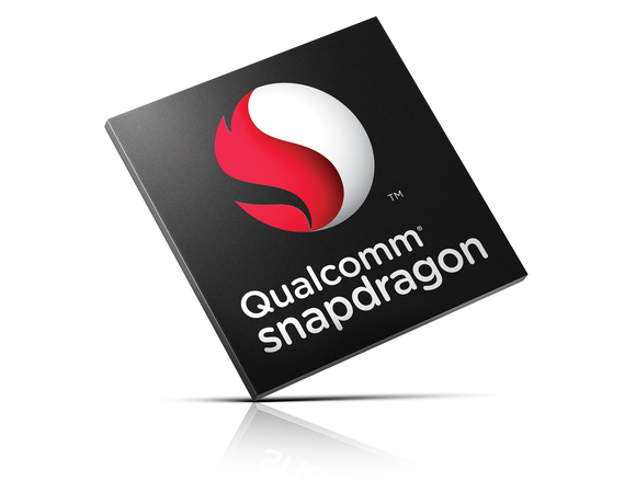 A rendering of a Qualcomm mobile chip