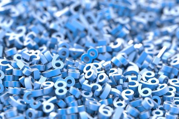 Numbers pile