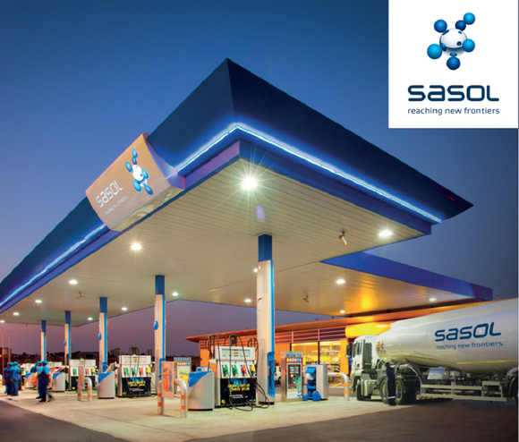 Sasol station with logo.