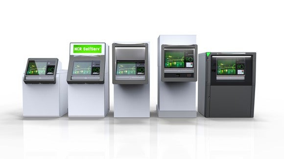 A series of NCR ATMs.
