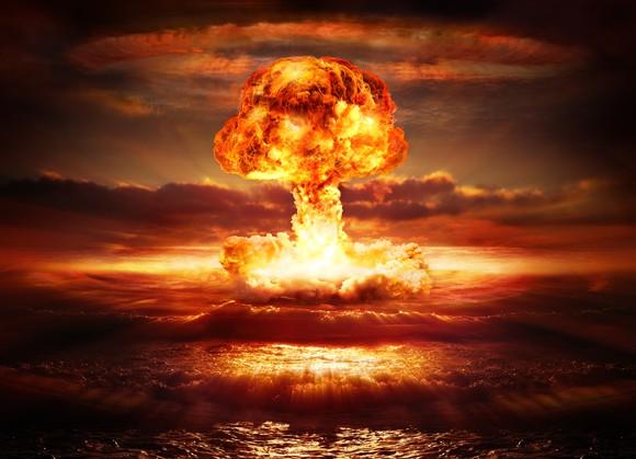 Nuclear explosion in ocean