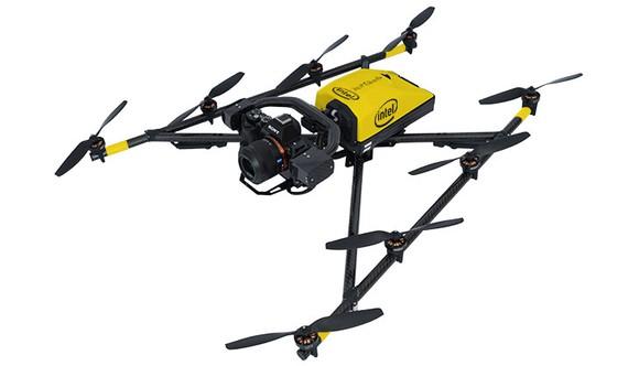 An Intel Facon 8 drone.