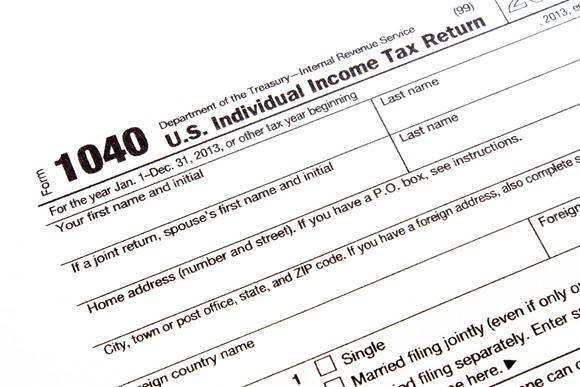 A 1040 tax form