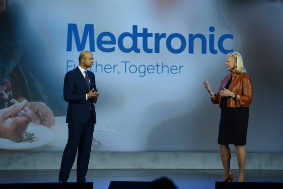 IBM Chairman and CEO Ginni Rometty, and Medtronic CEO Omar Ishrak.