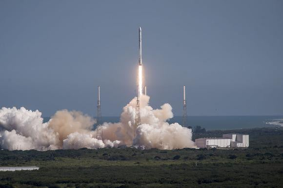 SpaceX Falcon 9 rocket launch.