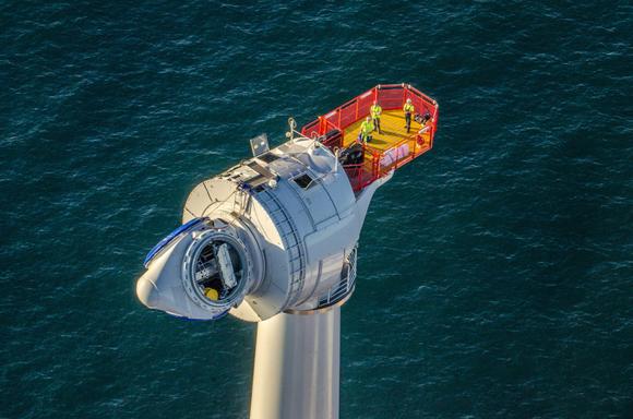 wind turbine on an offshore wind farm