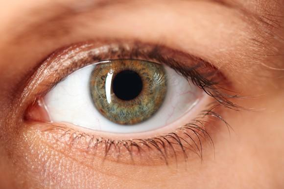 A closeup of an eye.