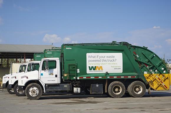 A Waste Management garbage truck