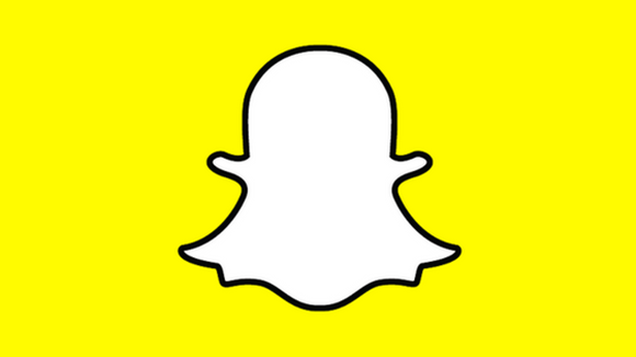 Snapchat logo on yellow background