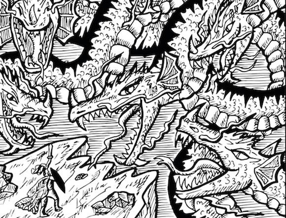 The mythical hydra with many heads.