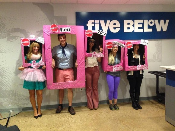 A costume contest at Five Below corporate headquarters.