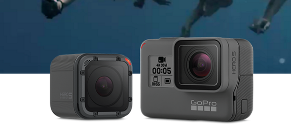 Two GoPro HERO cameras.