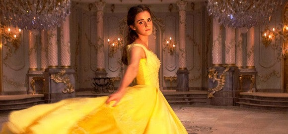 """Actress Emma Watson as Belle in Disney's live-action """"Beauty and the Beast."""""""