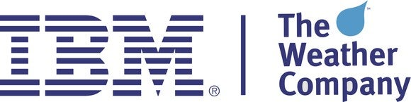 The IBM logo along with the Weather Company logo.