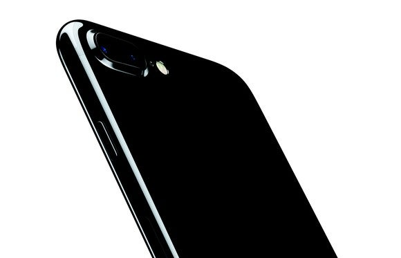 The back of an iPhone 7