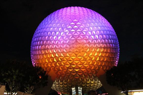 The iconic EPCOT ball.