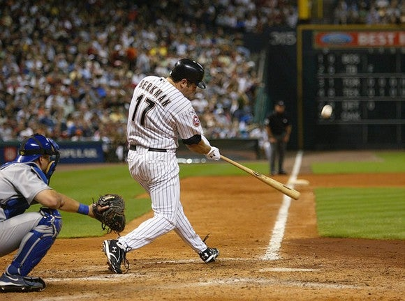 Former Houston Astros star Lance Berkman hits a home run wearing Under Armour cleats.