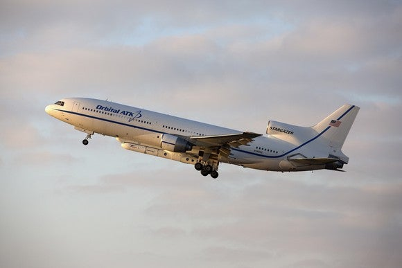 A jet passenger airplane in flight