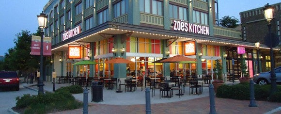A Zoe's Kitchen restaurant