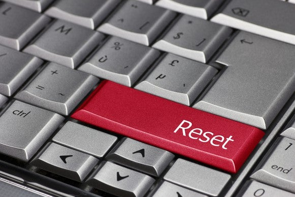 Reset button on keyboard.