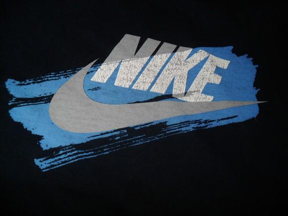 A Nike logo on a t-shirt